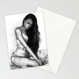 Natalie Danish - Kneeling Girl Stationery Cards