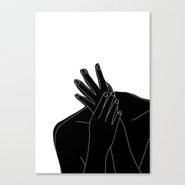 Black and white figure - Emmy Canvas Print