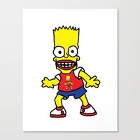 simpson Canvas Prints featuring Bart Simpson by GOONS