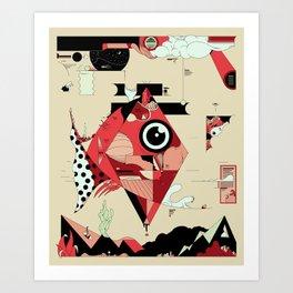 Fish and Squirrel Art Print