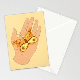 Moth, Palm reading Stationery Cards
