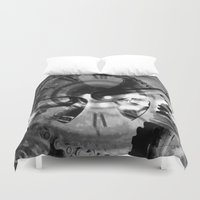 imagerybydianna Duvet Covers featuring Logos by Art by Mel