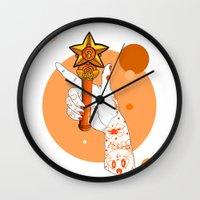 sailor venus Wall Clocks featuring Venus by scoobtoobins