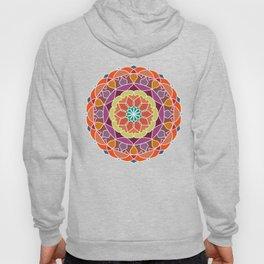 Flame mandala fractal design Hoody