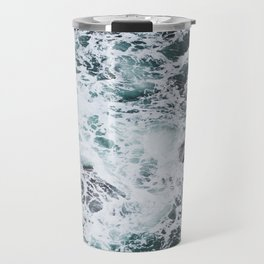 OCEAN - ROCKS - FOAM - SEA - PHOTOGRAPHY - NATURE Travel Mug