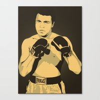 ali gulec Canvas Prints featuring Ali by Renan Lacerda
