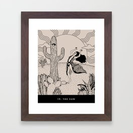 19. THE SUN Framed Art Print