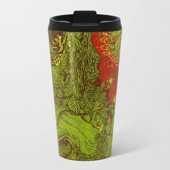 Sunflower green & Red Sky Metal Travel Mug