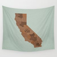 california Wall Tapestries featuring California by MattBlanksArt