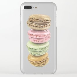 Macaron Watecolour Stack Clear iPhone Case