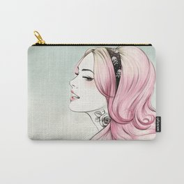 Pink Dye Carry-All Pouch