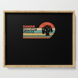 Damian Legendary Gamer Personalized Gift Serving Tray