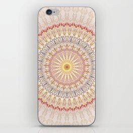 Beige Red Gold Mandala iPhone Skin