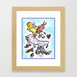 Cuteness in water Framed Art Print