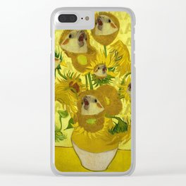 sunflower cockatiel Clear iPhone Case