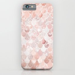 Mermaid Art, Blush Pink and Rose Gold iPhone Case
