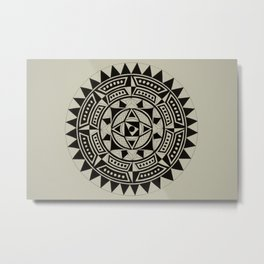 Geometric Muse Metal Print