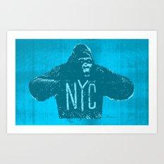 Gorilla NYC Art Print