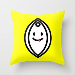 SnapChatte Throw Pillow