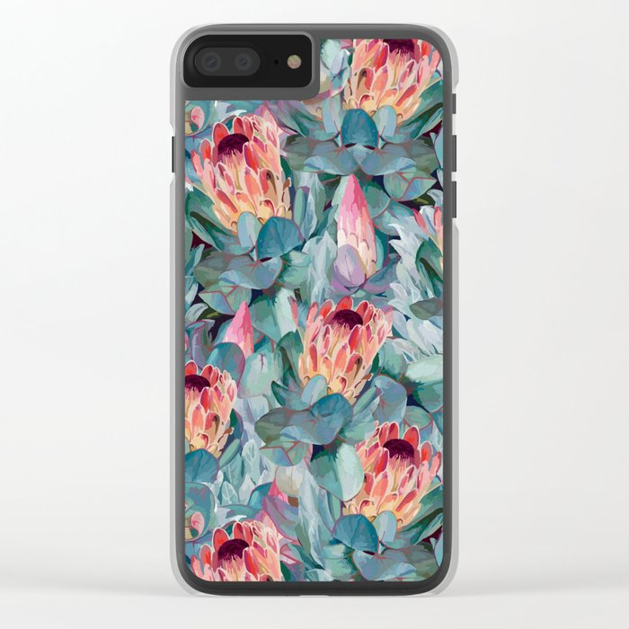 Protea flowers Clear iPhone Case