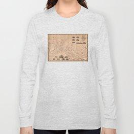 Vintage Map of Trenton NJ (1849) Long Sleeve T-shirt