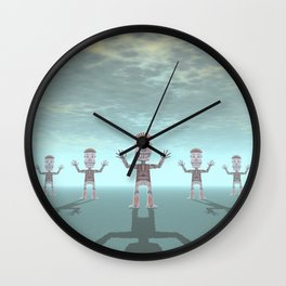 Characters Made of Stone Wall Clock