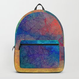 Reflecting Multi Colorful Abstract Prisms Design Backpack