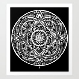 New Year Mandala Inverse Art Print