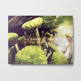 my heart is yours for eternity  Metal Print