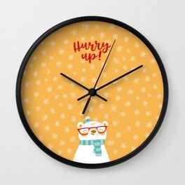 Hipster Polar Bear 3 Wall Clock