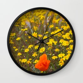 Patches of Gold Wall Clock