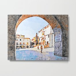 Teramo: glimpse of the cathedral Metal Print