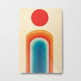 Rainbow anda sun Metal Print