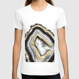 Agate Gold Foil Glam #1 #gem #decor #art #society6 T-shirt