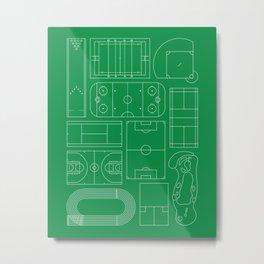 Sport Courts Pattern Art Metal Print