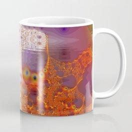 Ice Gold, Abstract Fractal Underground Lake  Coffee Mug