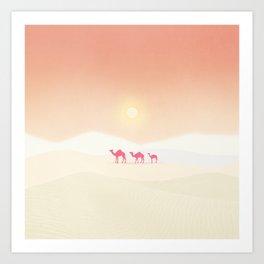 Minimal desert Art Print