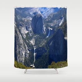 Vernal Falls And Nevada Falls Shower Curtain