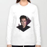 wesley bird Long Sleeve T-shirts featuring Paul Wesley by DijaDalmaArt