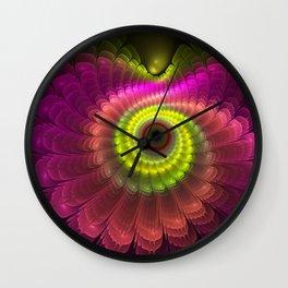 Curling up fantasy flower Wall Clock