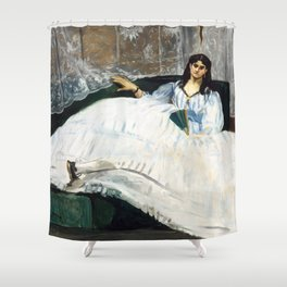 Edouard Manet - Woman with a Fan Shower Curtain