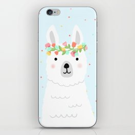 l is for llama iPhone Skin
