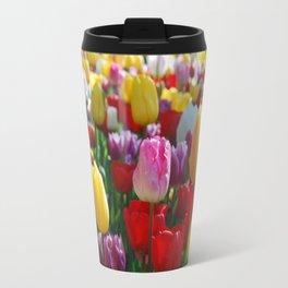 Colorful Springtime Tulips in the Netherlands Travel Mug