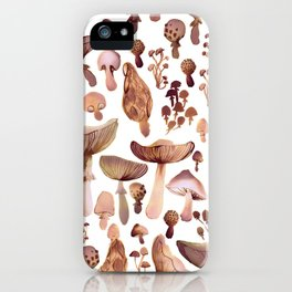 Watercolor Mushrooms iPhone Case