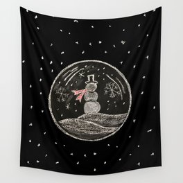 snowmen bubbles Wall Tapestry