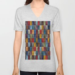 Abstract Composition 697 Unisex V-Neck
