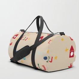 Holiday bird beige Duffle Bag