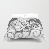 sisters Duvet Covers featuring Sisters!  by Danadu