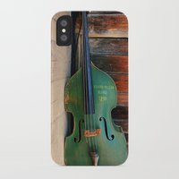 bass iPhone & iPod Cases featuring Double Bass by happeemonkee