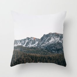 Last light in the Sierra Throw Pillow